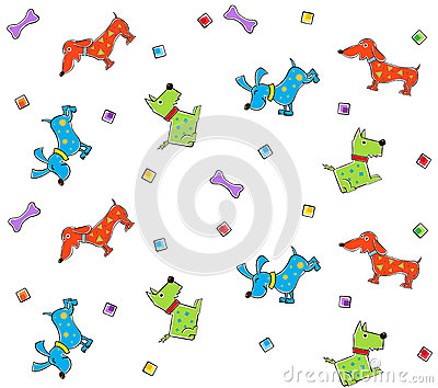 五颜六色的狗样式