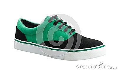 五颜六色的画布运动鞋