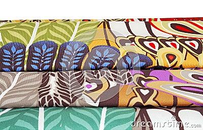 五颜六色的织品