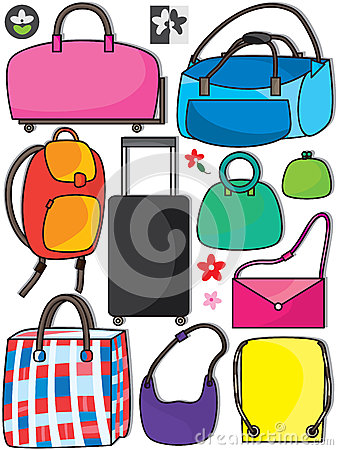 五颜六色的袋子Set_eps