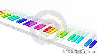 五颜六色的钢琴
