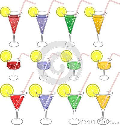 五颜六色的饮料