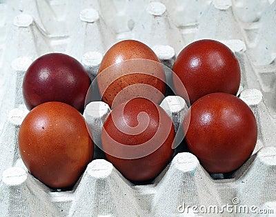 五颜六色的鸡蛋