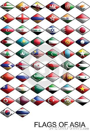 亚洲国家国旗_亚洲上色国旗国家