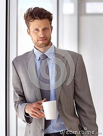 享受我的咖啡休息