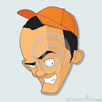 人的可笑的题头盖帽的。