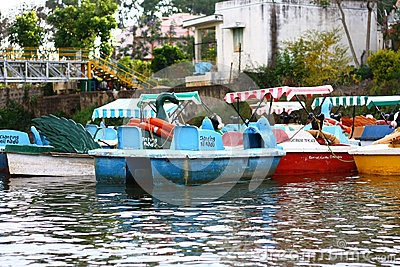 从印度旅游业的划船 编辑类库存图片