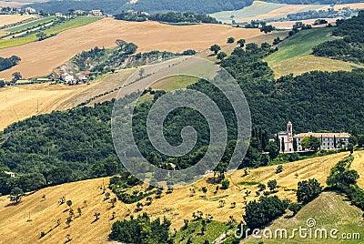 从Arcevia的全景