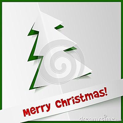 从cuted纸张的创造性的圣诞树