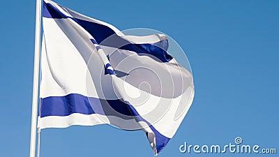 以色列的状态旗子 股票录像