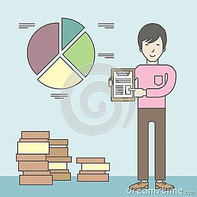 企业图形市场监控报表股票图片