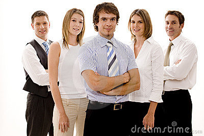 企业愉快的小组