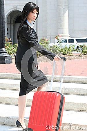企业旅行的行程妇女