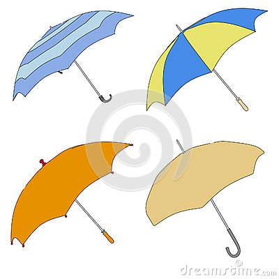 伞(雨保护)的动画片图象.图片