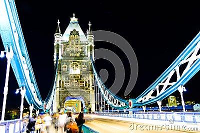 伦敦桥梁,夜