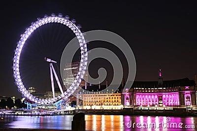 伦敦眼睛在伦敦 编辑类库存图片