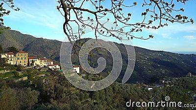 佩里纳尔多古镇高在意大利的西部的阿尔卑斯 影视素材