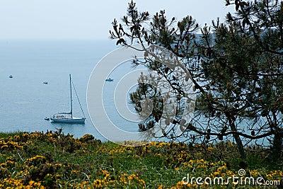 佳丽布里坦尼en法国ile mer