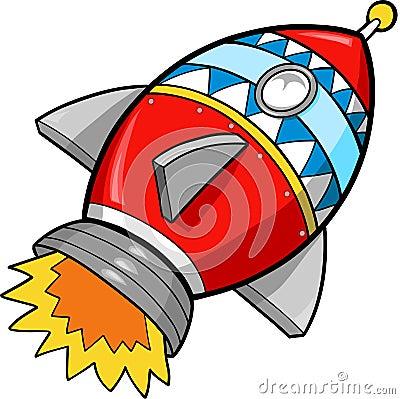 逗人喜爱的快速例证火箭向量.图片