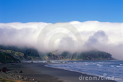 俄勒冈海岸和海岸线