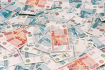 库存图片: 俄语背景的卢布
