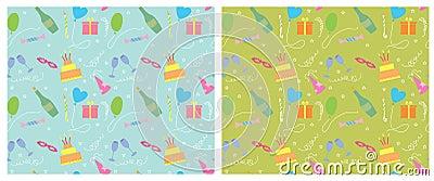 假日无缝的pattern.vector颜色背景