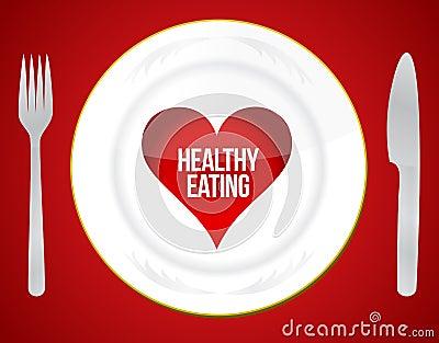 健康吃概念