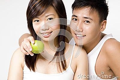 健康2对的夫妇