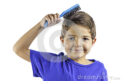 儿童掠过的头发