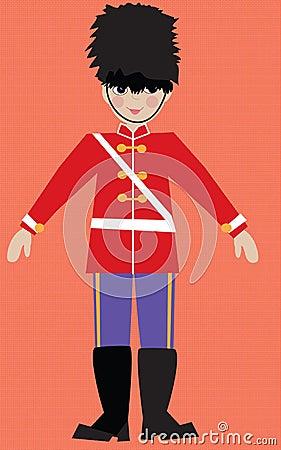 儿童的illustarion英国皇家卫兵