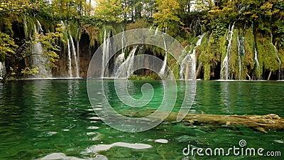 克罗地亚湖plitvice瀑布