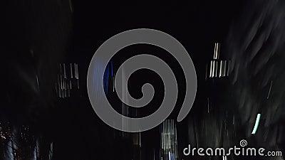 具有运动模糊光效果的夜街录像 影视素材