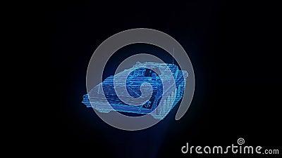 军用坦克旋转的全息图模型 股票视频