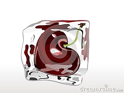 冻结的樱桃
