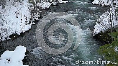 凶恶河弯发怒的水洪流俄勒冈状态 影视素材