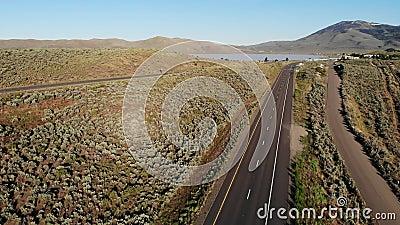 加利福尼亚州乡村和美国内华达州395号公路 股票录像