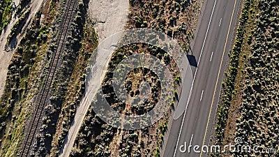 加利福尼亚州和内华达州边界395号公路 股票录像