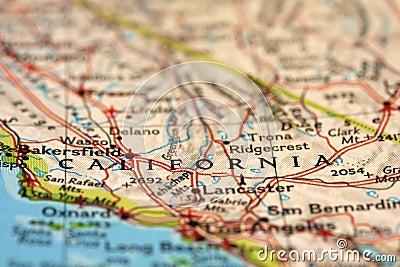 加利福尼亚映射美国视图.图片