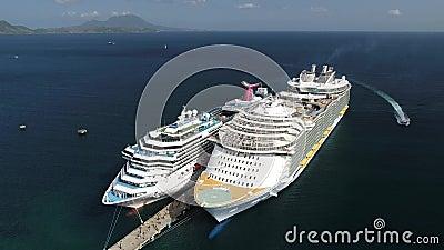 加勒比巡航波多黎各海岛狂欢节 股票视频