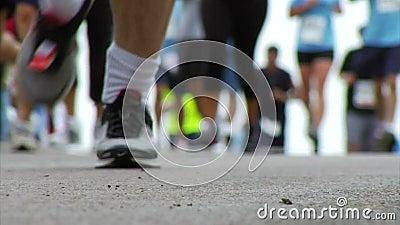 加拿大马拉松安大略渥太华赛跑者 股票录像