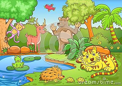 动物在森林里.图片