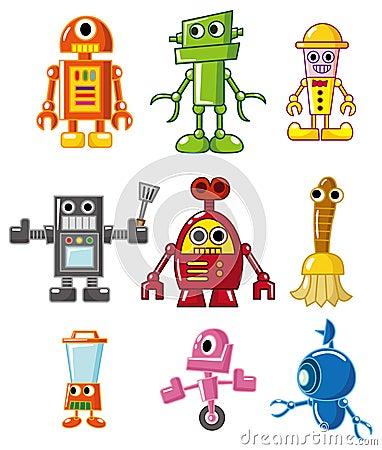 动画片图画图标机器人向量.