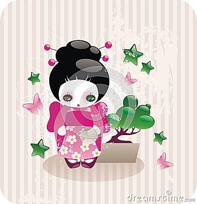 动画片女孩日语 库存图片