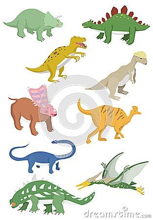 download 动画片恐龙图标 向量例证.图片