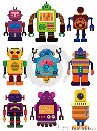 动画片颜色图画图标机器人.