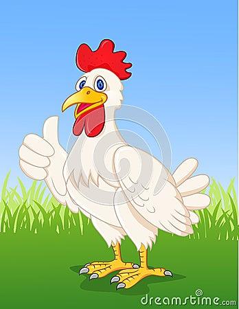 黄色片色鸡鸡_动画片鸡例证赞许.