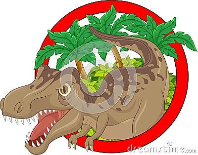 动画片大恐龙的例证.图片