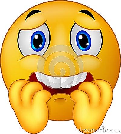 动画片害怕的意思号面带笑容 向量例证 - 图片: 46947803