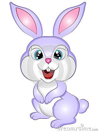 动画片小兔传染媒介例证图片
