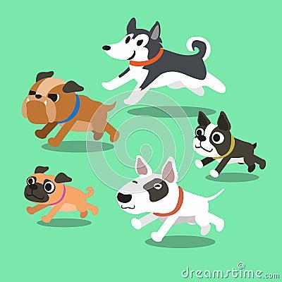 跑为设计的动画片狗.